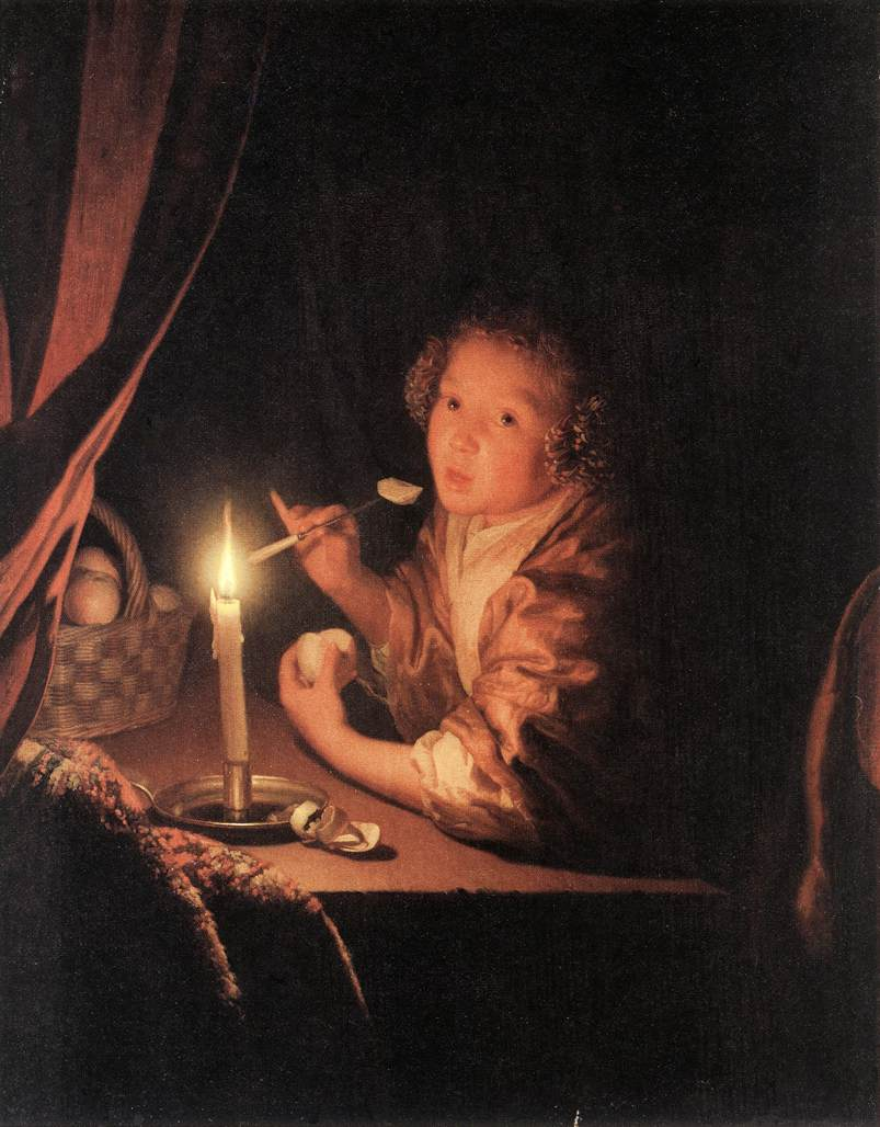 SCHALCKEN Godfried Girl Eating an Apple