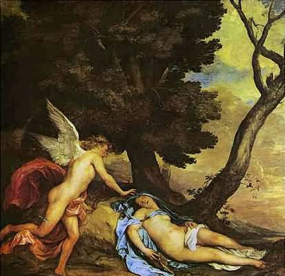 Sir Anthony van Dyck Cupid and Psyche