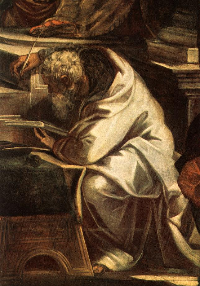 TINTORETTO Christ before Pilate detail