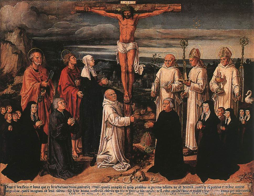 WOENSAM VON WORMS Anton Christ on the Cross with Carthusian Saints