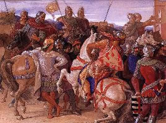 William Dyce Departure Quest for the Holy Grail