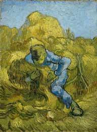 Sheaf Binder (after Millet), St. Remy 9/1889 - Vincent Van Gogh