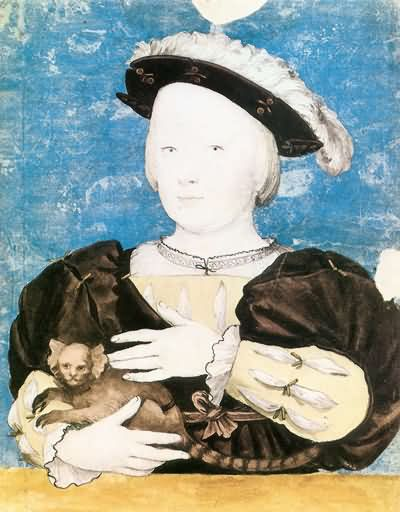 Hans Holbein the Younger Portrait of Edward Prince of Wales with Monkey