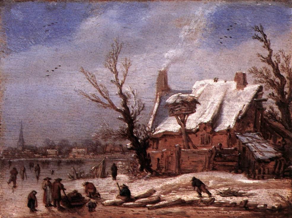 VELDE Esaias van de Winter Landscape 2