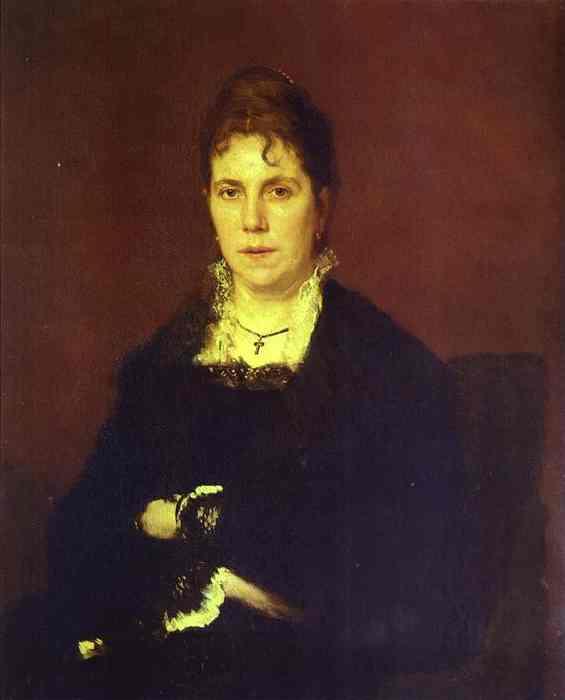Kramskoy Ivan Portrait of Sophia Kramskaya the Artist s Wife