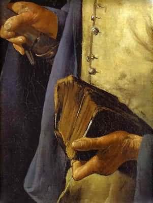 Georges de La Tour St Thomas also called Saint with a Pike Detail