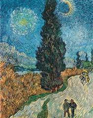 La Route Aux Cypres - Vincent Van Gogh