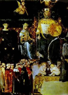 Ambrogio Lorenzetti Allegory of Good Government Detail
