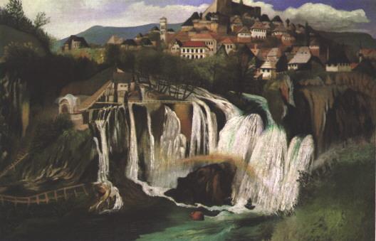 CSONTVARY KOSZTKA Tivadar Waterfall at Jajce
