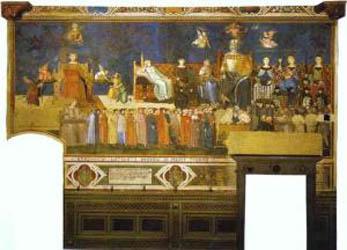 Ambrogio Lorenzetti Allegory of Good Government Top right Allegorica