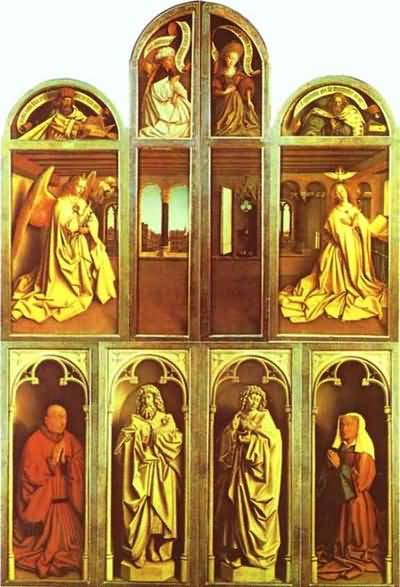 Jan van Eyck The Ghent Altarpiece with altar wings closed