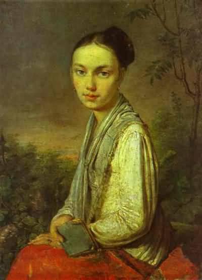 Alexey Venetsianov Portrait of V S Putyatina