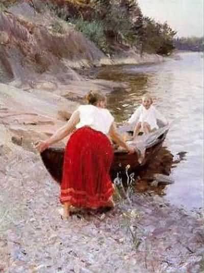 Anders Zorn Femme au jupon rouge