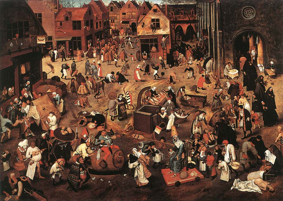 BRUEGHEL Pieter the Younger Battle of Carnival and Lent