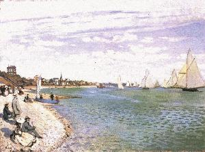 Beach at Ste. Adresse - Claude Monet