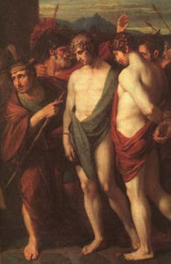 Benjamin West Pylades & Orestes Brought as Victims to Iphigenia