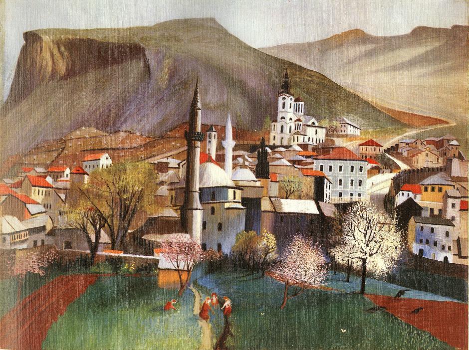 CSONTVARY KOSZTKA Tivadar Springtime in Mostar
