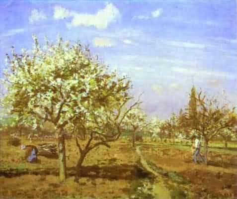 Camille Pissarro Orchard in Blossom Louveciennes
