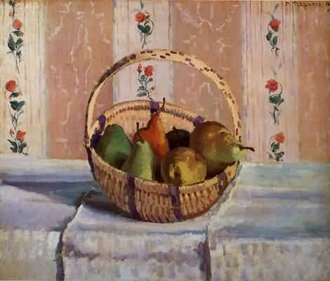Camille Pissarro Pears in a Round Basket