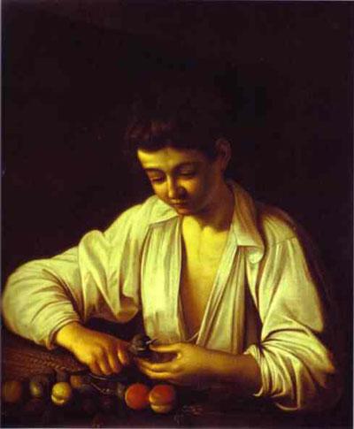 Caravaggio Boy Peeling a Fruit