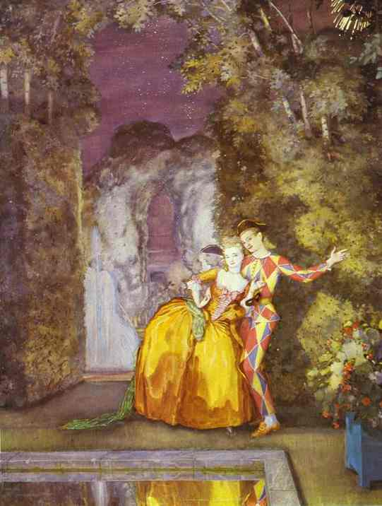 Constantin Somov Lady and Harlequin 1