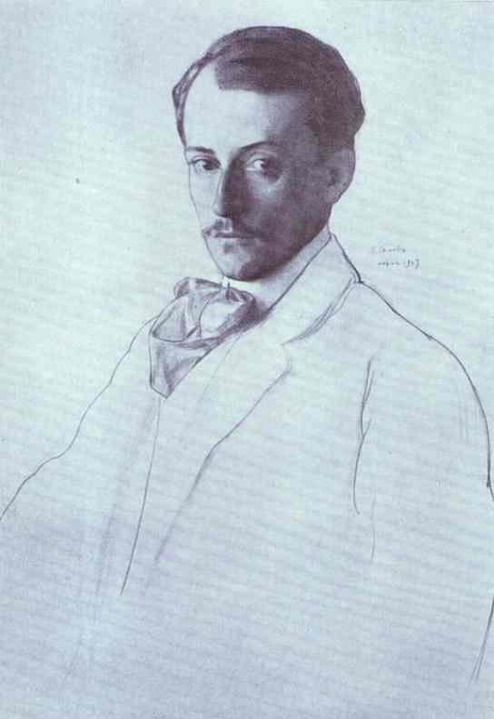 Constantin Somov Portrait of Eugine Lanceray
