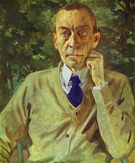Constantin Somov Portrait of the Composer Sergey Rahmaninov