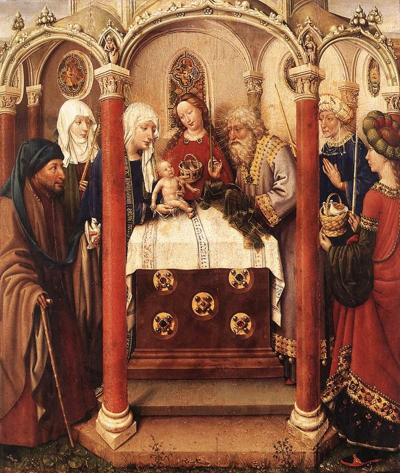 DARET Jacques Altarpiece of the Virgin 1