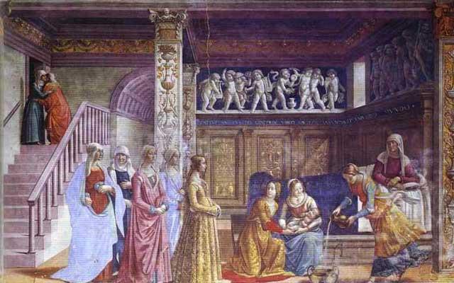 Domenico Ghirlandaio The Birth of Mary