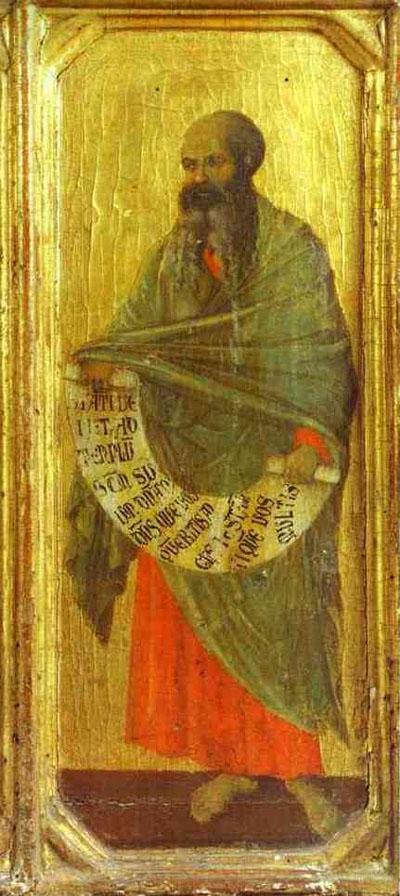 Duccio di Buoninsegna Maesta_front_ predella_ The Prophet Malachi