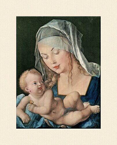 Duerer Albrecht Maria mit Kind an der mauer
