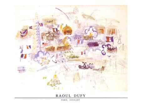 Dufy Raoul Paris 14 Juillet 1