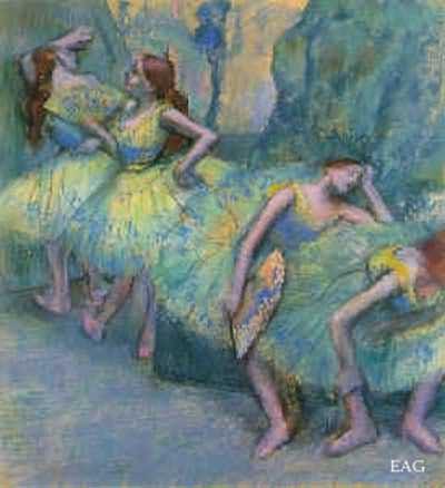 Edgar Degas Ballet Dancers In The Wings