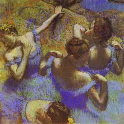 Edgar Degas The Blue Dancers_