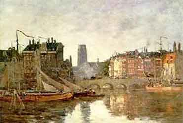 Eugene Boudin Rotterdam, The Bridge