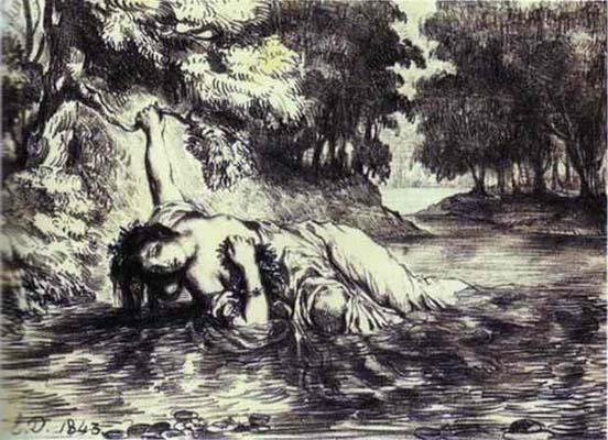 Eugene Delacroix The Death of Ophelia