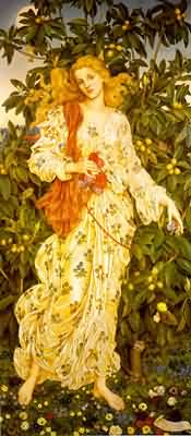 Evelyn de Morgan Flora Goddess of Blossoms Flowers