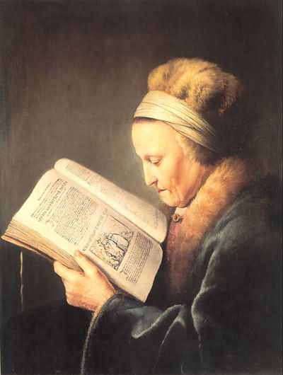Gerrit Dou Old Woman Reading