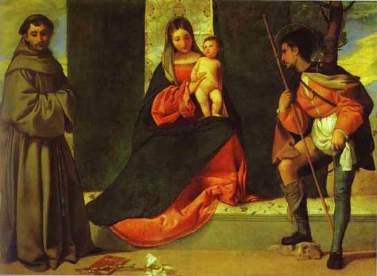 Giorgione Madonna and Child with St Anthony and St Roch