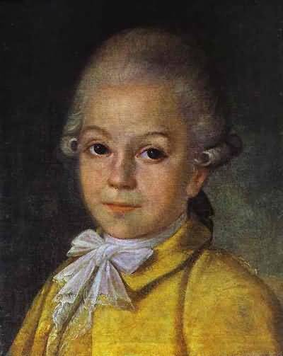 Grigory Ostrovsky Portrait of Dmitry Cherevin at the Age of 6
