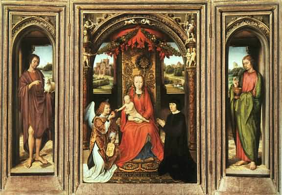 Hans Memling Triptych with panels open