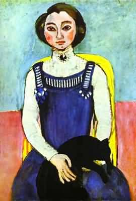 Henri Matisse Girl with A Black Cat