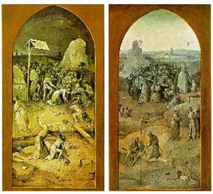 Hieronymous Bosch Flight And Failure of St Anthony - Outer Wings