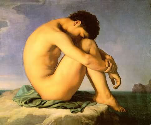 Hippolyte Flandrin Young Man Beside the Sea A Study