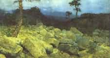 Isaac Levitan In the Mountains in the Crimea
