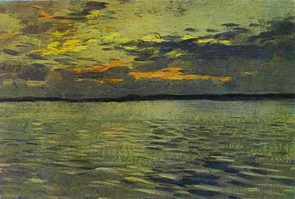Isaac Levitan The Lake Eventide