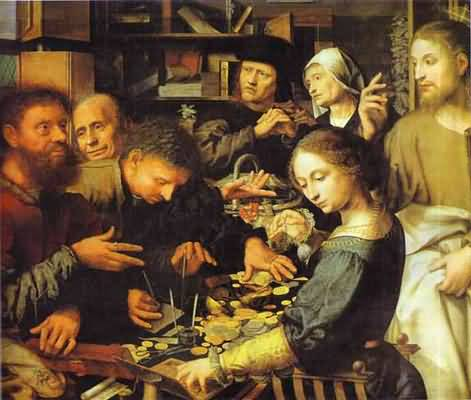 Jan Sanders van Hemessen Jesus Summons Matthew to Leave the Tax Office