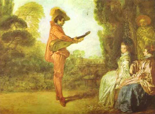 Jean Antoine Watteau The Seducer