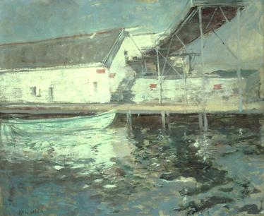 John Henry Twachtman Fish Sheds