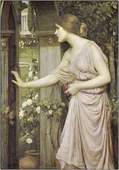 John William Waterhouse Psyche Entering Cupid s Garden